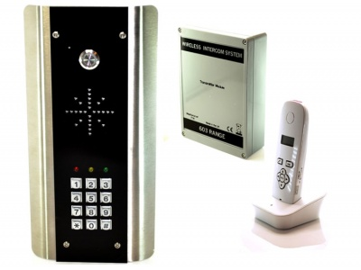 AES 603 Wireless intercom kit with keypad