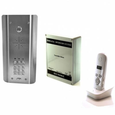 AES 603-ASK SS Architectural Keypad Model DECT Wireless intercom Kit