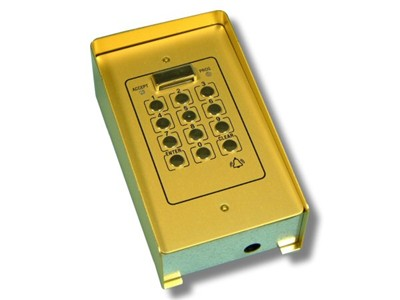 Videx 810NS/G Surface Mounting Gold Access Control Keypad with Single Code(20PSG)