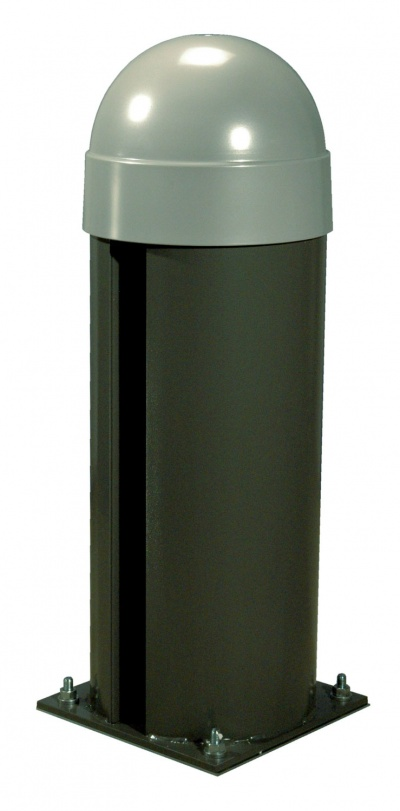CAME CAT-X24 Bollard with operator featuring an on-bard control panel