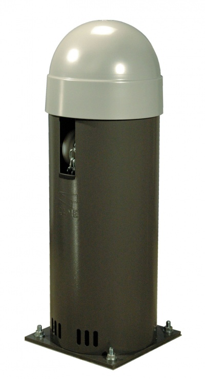 CAME CAT-X Bollard with operator featuring an on-bard control panel
