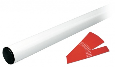 Came G03002 White Painted Aluminium Boom With Round Section 3M