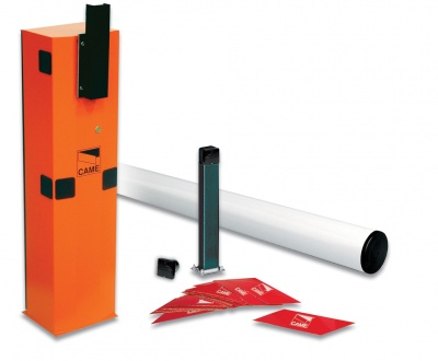 Came GARD4T Complete 24v D.C. Barrier Kit with tubular barrier arm for road withs of up to 4m