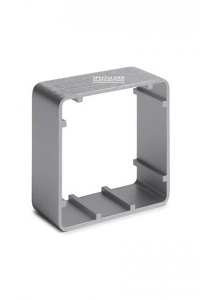 SSP Surface Mount Aluminium back box Silver 85mm square