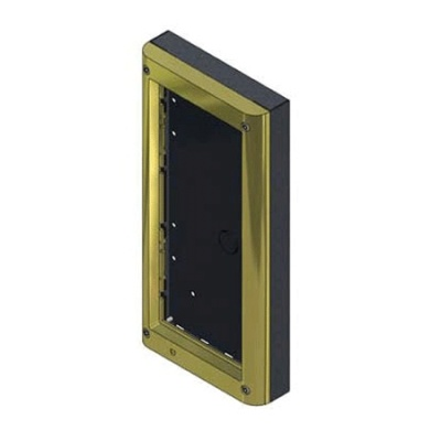 Videx 4882/G 2 Module Surface Box With Gold Frame
