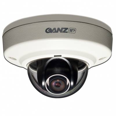 GANZ ZN-MD243M 1080p Outdoor Vandal-Resistant IP Mini Dome 4.3mm Lens