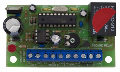 W26-RLY Relay Interface Secure 26-Bit Wiegand 1 Relay