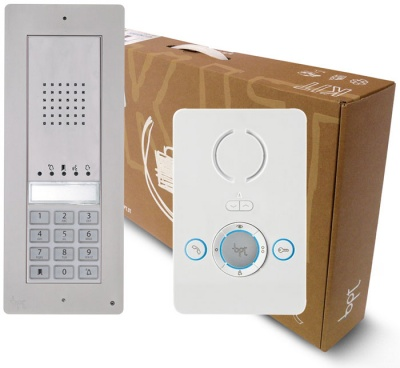 BPT Thangram with Perla 2 apartment kits with keypad