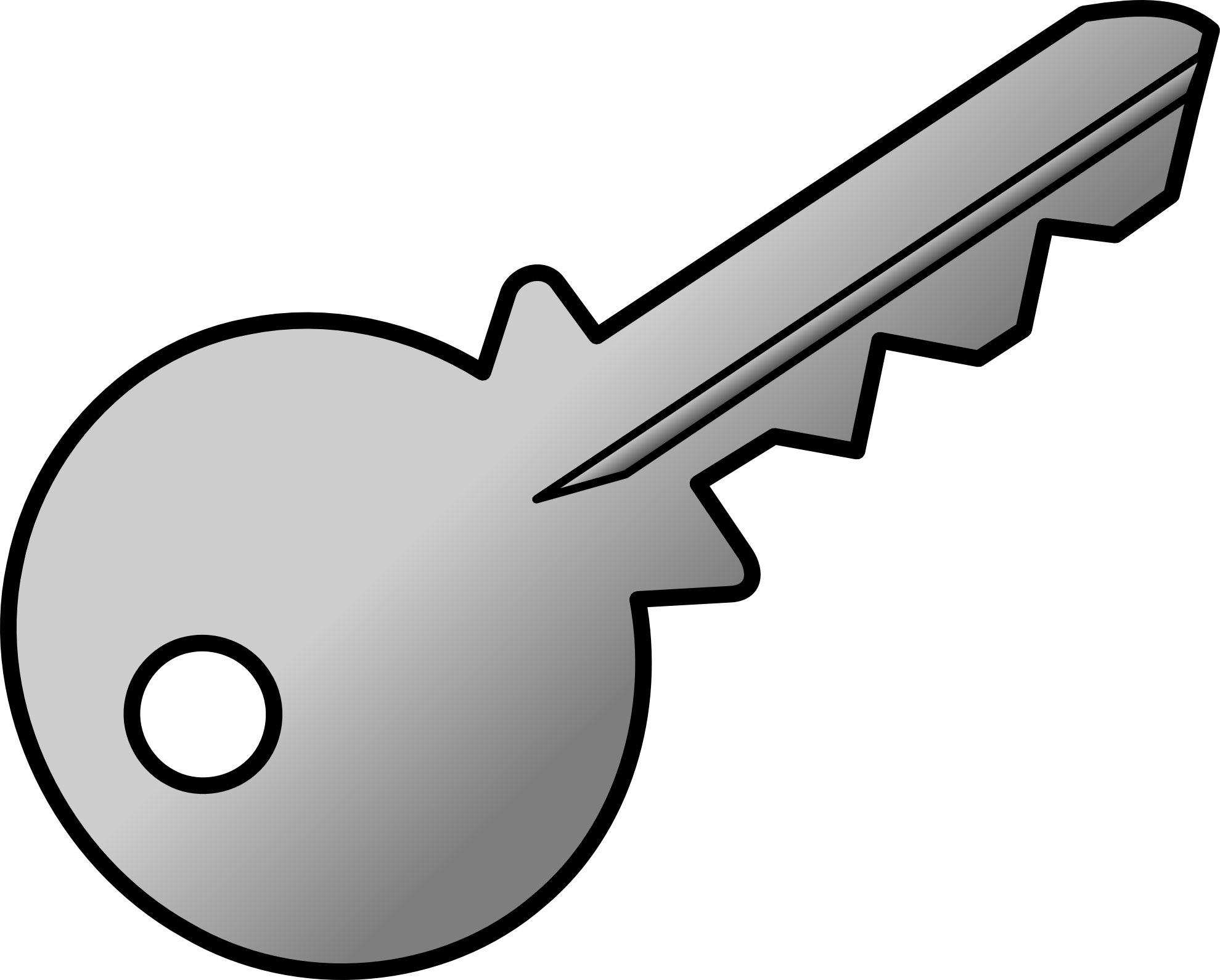 Clipart Key Black And White