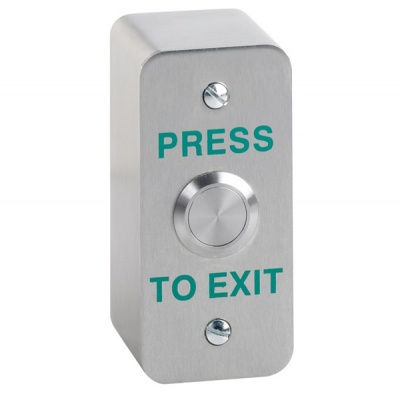 Stainless Steel Door Release Button Narrow