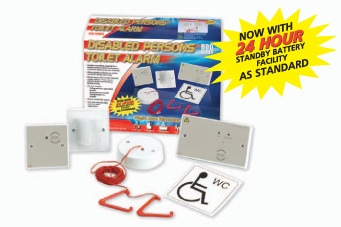 Standard Disabled Persons Toilet Alarm Kit