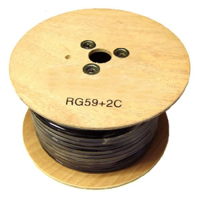 Solid Copper RG59 + 2DC cores 100M shotgun cable