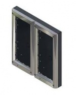 Videx 4884/C Four Module Surface Backboxes with Chrome Surround for 4000 Series Door Panels