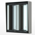 Videx 8884/BL 4 Module Surface Backbox for 8000 Series Door Panels Aluminium Finishes (2 Row)