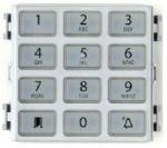 BPT Thangram DNA/ME keypad Chrome finnish