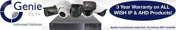 Genie CCTV 3 year warranty