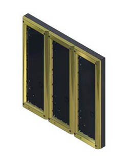Videx 4889/G Nine Module Surface Backboxes with Gold Surround for 4000 Series Door Panels