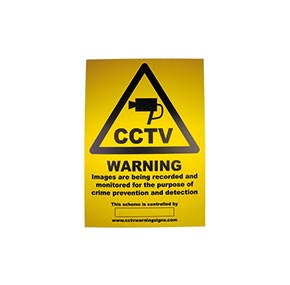 CCTV Warning Window Stickers A6, A5, A4 and A3