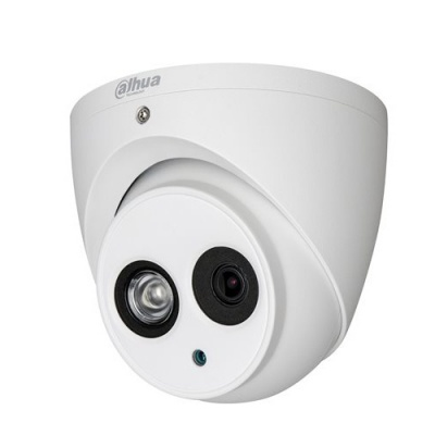 Dahua HAC-HDW2401EM-0360 4MP HDCVI IR (50m) Turret Dome  3.6mm Lens  WDR (120db)  12VDC  IP67  Metal Housing