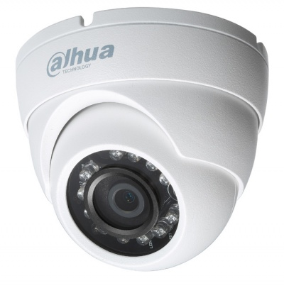 Dahua HAC-HDW1200M-0280-S4 2MP HDCVI-TVI-AHD-CVBS Dome Camera 3.6mm 12VDC