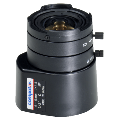 1/2'' C 4-8mm F1.4 Megapixel Varifocal, Direct Drive AI 31cm