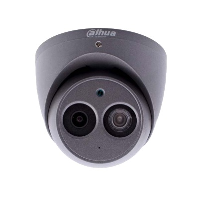 Dahua IPC-HDW4631EM-ASE-0280-G 6MP Starvis IP Dome Camera 2.8 or 3.6mm 50m IR Audio Mic Micro SD ePoE Grey