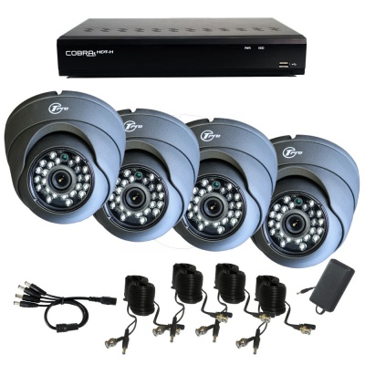 Professional Cobra Twilight 4 Fixed 3.6mm camera CCTV kit