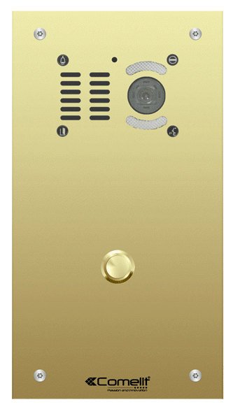 Comelit VK6501 1 button, VR Brass engravable iKall video panel