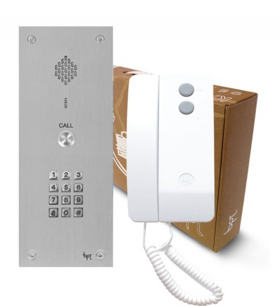 BPT VR 1 button kits with Agata handsets with keypad