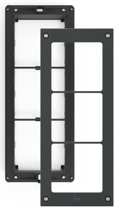 BPT MTMTP3MVR Vandal resistant frame with Three Module holders