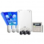 Scantronic I-ON30RKIT-WKP-BL radio kit with wired keypad and blue external sounder