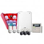 Scantronic I-ON30RKIT-RKP-RD radio kit with radio keypad and red external sounder