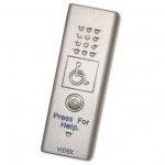 Videx SLK/DDA 1 Way Slim Line Door Panel Kit with Disabled Logo