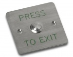 Videx SP80/T Flush Stainless Steel Push to Exit Button