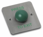 BPT RTE/2 Exit Button Green dome PRESS TO EXIT IP67 rated