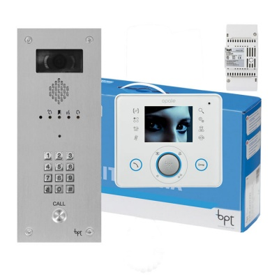 BPT OPALE 1 way Kit with VR Video entry Panel with keypad