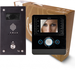 BPT Perla 1 way Kits with VR Black keypad Video entry Panels